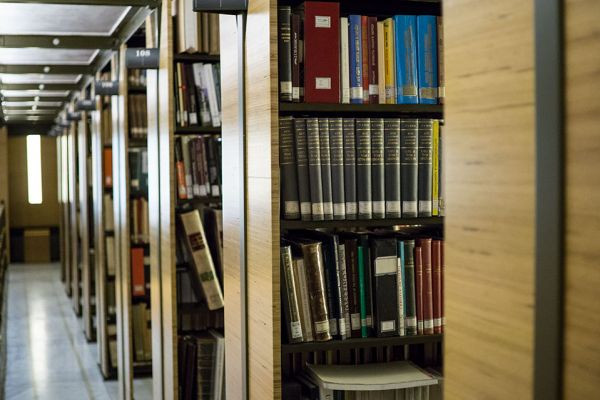 Library shelving at the Pontifical Oriental Institute