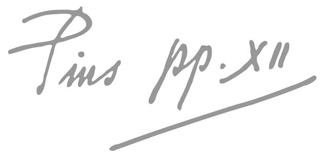 Pius XII signature - Pontificio Istituto Orientale